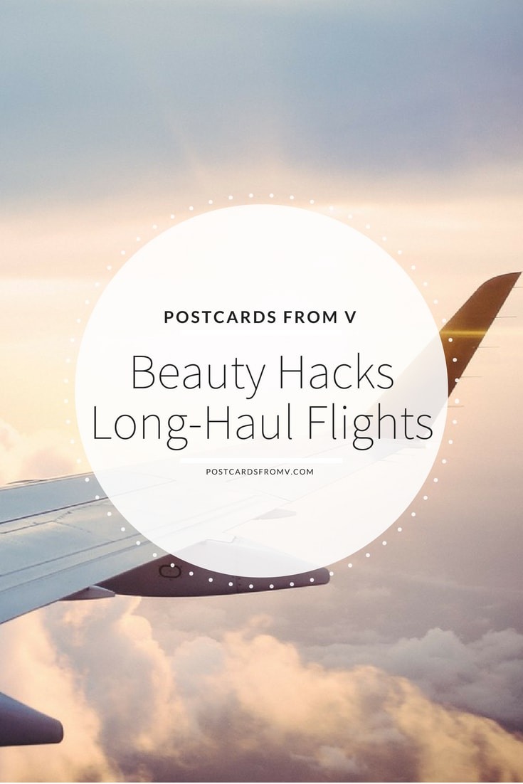Pinterest, beauty hacks, long-haul flights, postcards from v