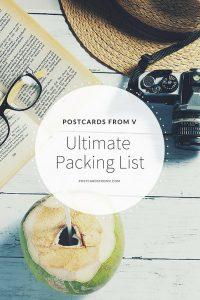 pinterest, packing list, postcards from v