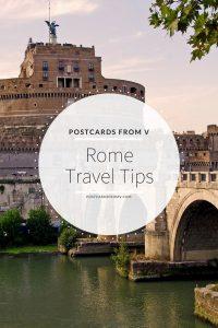 pinterest, rome, travel tips, postcards from v