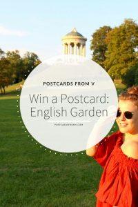 English Garden, Win a postcard, Pinterest, Postcard from V