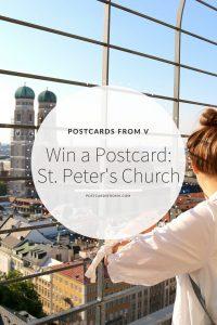 St. Peters Church. Munich, Pinterest, Postcards from V