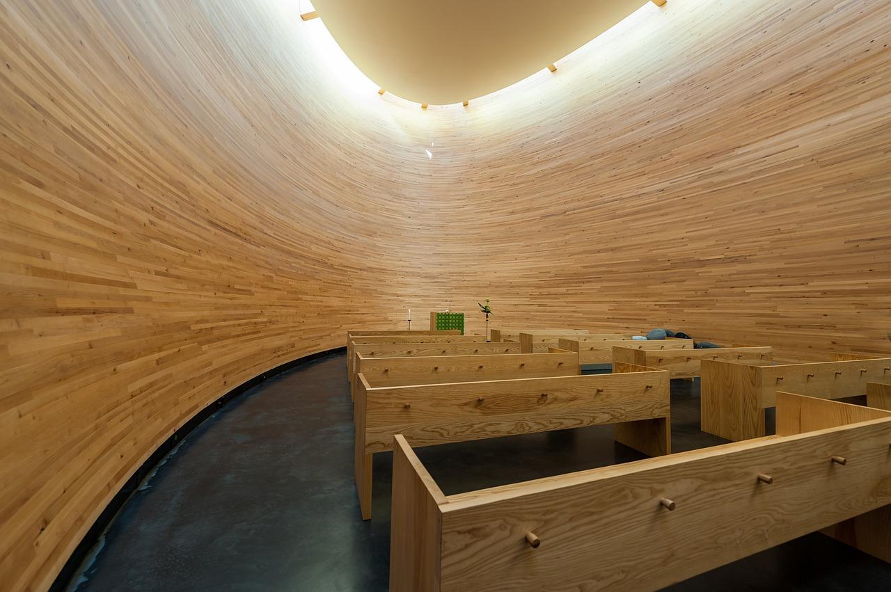 Kamppi Chapel of Silence, Inside, Helsinki