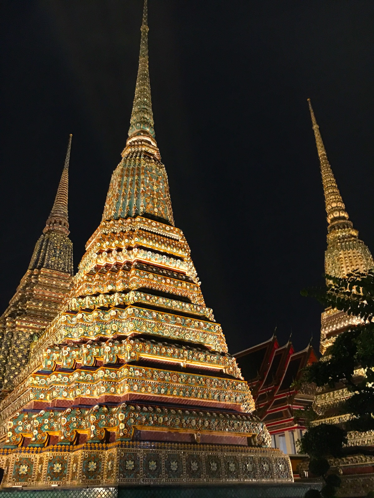 Temples by night