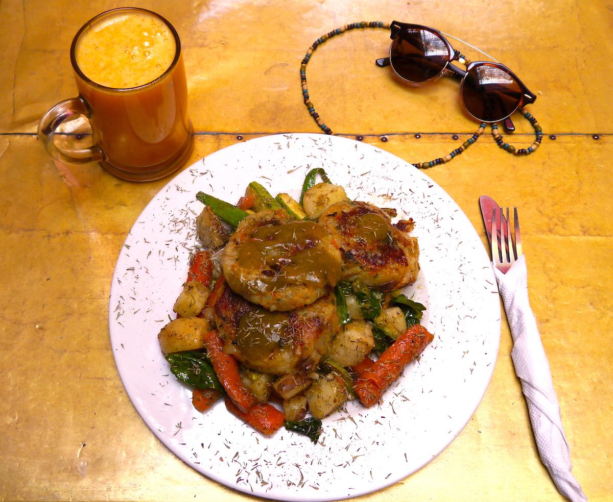 Cooking Class, Morocco, Earth Café, Marrakech, Veggie Burger