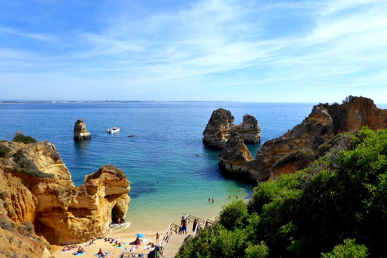 Algarve, Portugal, Beach, Cliffs