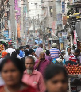India, Streets, Crowds