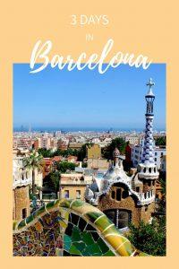 Pinterest, Pin it, 3 days in Barcelona