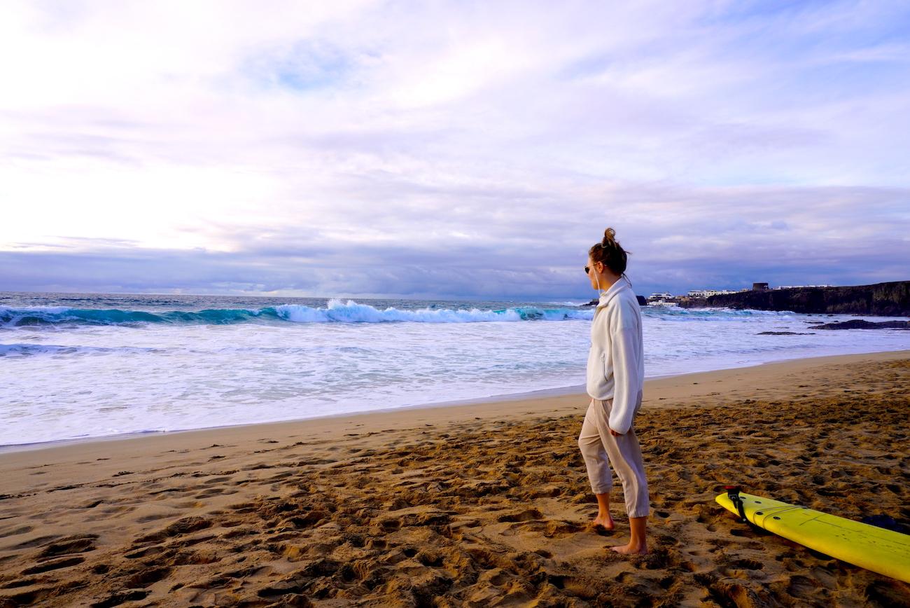 Surfing at Piedra Playa